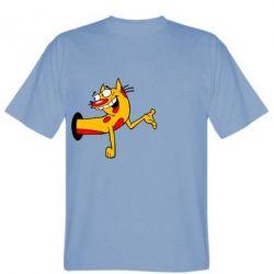 Мужская футболка Кіт - FatLine