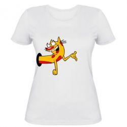 Женская футболка Кіт