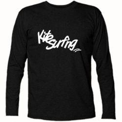 Купить Футболка с длинным рукавом Kitesurfing graffity, FatLine
