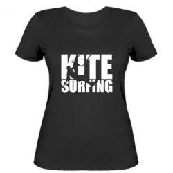 Жіноча футболка Kitesurfing