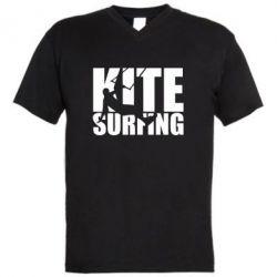 Чоловіча футболка з V-подібним вирізом Kitesurfing
