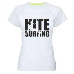 Жіноча спортивна футболка Kitesurfing