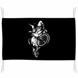 Флаг Kitten and bike