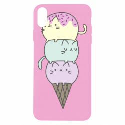 Чохол для iPhone Xs Max Kittens for ice cream
