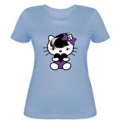 Женская футболка Китти Эмо