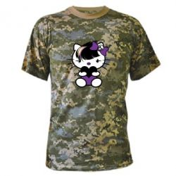 Камуфляжная футболка Китти Эмо - FatLine