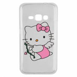Чехол для Samsung J1 2016 Kitty амурчик - FatLine