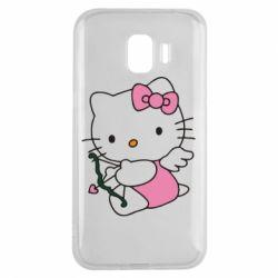 Чехол для Samsung J2 2018 Kitty амурчик - FatLine