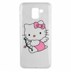 Чехол для Samsung J6 Kitty амурчик - FatLine