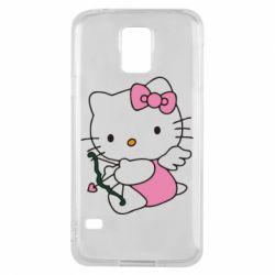 Чехол для Samsung S5 Kitty амурчик - FatLine
