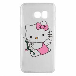 Чехол для Samsung S6 EDGE Kitty амурчик - FatLine