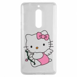Чехол для Nokia 5 Kitty амурчик - FatLine
