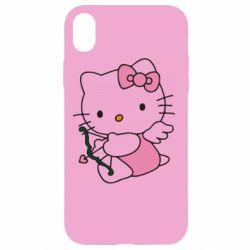 Чехол для iPhone XR Kitty амурчик - FatLine
