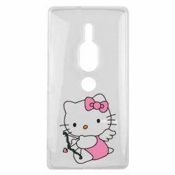 Чехол для Sony Xperia XZ2 Premium Kitty амурчик - FatLine