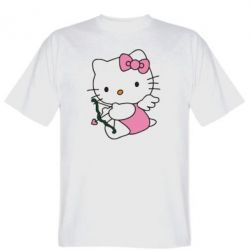 Мужская футболка Kitty амурчик - FatLine