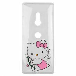 Чехол для Sony Xperia XZ3 Kitty амурчик - FatLine