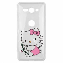 Чехол для Sony Xperia XZ2 Compact Kitty амурчик - FatLine