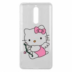 Чехол для Nokia 8 Kitty амурчик - FatLine