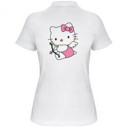 Женская футболка поло Kitty амурчик - FatLine