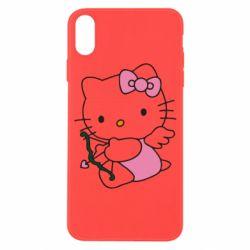 Чехол для iPhone X Kitty амурчик - FatLine