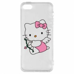 Чехол для iPhone5/5S/SE Kitty амурчик - FatLine