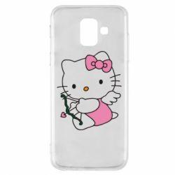 Чехол для Samsung A6 2018 Kitty амурчик - FatLine