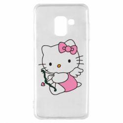 Чехол для Samsung A8 2018 Kitty амурчик - FatLine