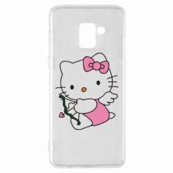 Чехол для Samsung A8+ 2018 Kitty амурчик - FatLine