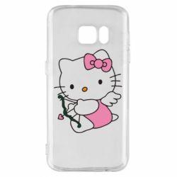 Чехол для Samsung S7 Kitty амурчик - FatLine