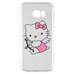 Чехол для Samsung S7 EDGE Kitty амурчик - FatLine