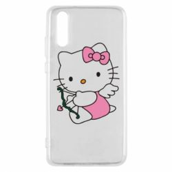 Чехол для Huawei P20 Kitty амурчик - FatLine
