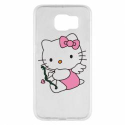 Чехол для Samsung S6 Kitty амурчик - FatLine