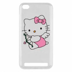 Чехол для Xiaomi Redmi 5a Kitty амурчик - FatLine