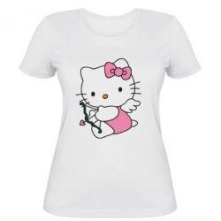 Жіноча футболка Kitty амурчик - FatLine