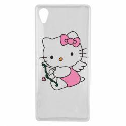 Чехол для Sony Xperia X Kitty амурчик - FatLine