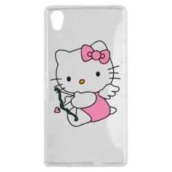 Чехол для Sony Xperia Z1 Kitty амурчик - FatLine
