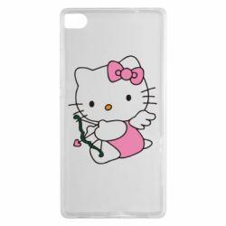 Чехол для Huawei P8 Kitty амурчик - FatLine