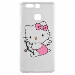 Чехол для Huawei P9 Kitty амурчик - FatLine