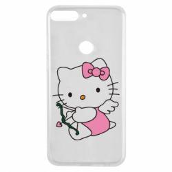 Чехол для Huawei Y7 Prime 2018 Kitty амурчик - FatLine