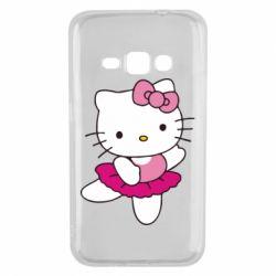 Чехол для Samsung J1 2016 Kitty балярина