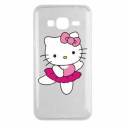 Чехол для Samsung J3 2016 Kitty балярина