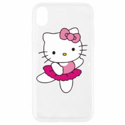Чехол для iPhone XR Kitty балярина