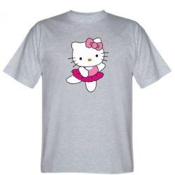 Мужская футболка Kitty балярина - FatLine