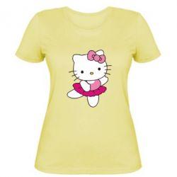 Жіноча футболка Kitty балярина - FatLine