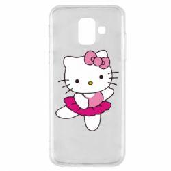 Чехол для Samsung A6 2018 Kitty балярина