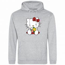 Толстовка Kitty с букетиком - FatLine