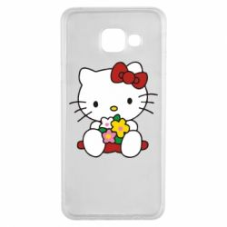 Чехол для Samsung A3 2016 Kitty с букетиком