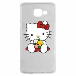 Чехол для Samsung A5 2016 Kitty с букетиком