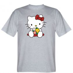 Футболка Kitty с букетиком