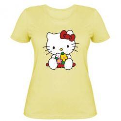 Женская Kitty с букетиком - FatLine